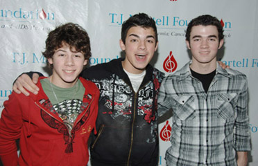 Jonas Brothers at the TJ Martell foundation